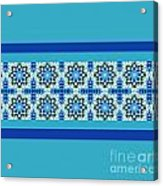 Blue Patchwork 2 Acrylic Print