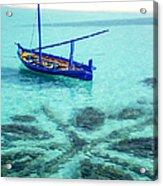 Blue Peace. Maldives Acrylic Print