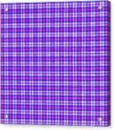Blue Pink And White Plaid Cloth Background Acrylic Print