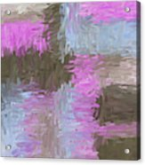 Blue Pink Brown Abstract Acrylic Print
