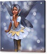 Blue Pixie Acrylic Print