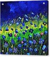 Blue poppies 674190 Acrylic Print
