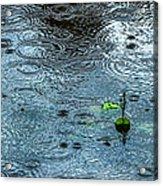 Blue Rain - Featured 3 Acrylic Print by Alexander Senin