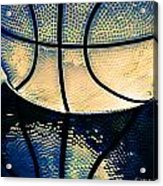 Blue Basketball Acrylic Print