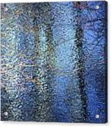 Blue Reflections Of The Patapsco River Acrylic Print