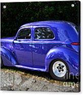 Blue Restored Willy Car Acrylic Print