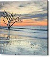 Blue Reverence Charleston Sc Ocean Sunrise Acrylic Print