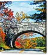 Blue Ridge Autumn Bridge Acrylic Print