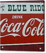 Blue Ridge Coca Cola Sign Acrylic Print