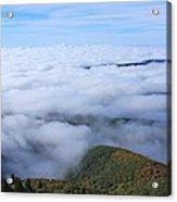 Blue Ridge Fog Acrylic Print