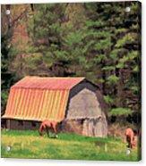 Blue Ridge Horses Acrylic Print