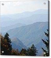 Blue Ridge In The Fall Acrylic Print