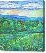 Blue Ridge Meadow Acrylic Print