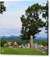Blue Ridge Mountain Cemetery Acrylic Print