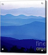 Blue Ridge Mountains Shenandoah National Park Acrylic Print