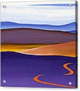 Blue Ridge Orange Mountains Sky And Road In Fall Acrylic Print