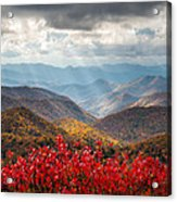 Blue Ridge Parkway Fall Foliage - The Light Acrylic Print by Dave Allen