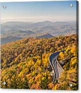 Blue Ridge Parkway In Peak Autumn Colors Acrylic Print by Pierre Leclerc Photography