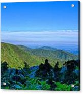 Blue Ridge Parkway National Park Sunset Scenic Mountains Summer  Acrylic Print
