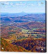 Blue Ridge Parkway Overlook Acrylic Print