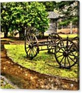 Blue Ridge Parkway Vintage Wagon In The Rain II Acrylic Print by Dan Carmichael