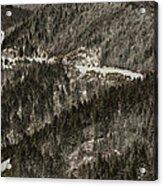 Blue Ridge Parkway With Snow - Aerial Photo Acrylic Print