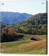 Blue Ridge Scenic Acrylic Print by Suzanne Gaff