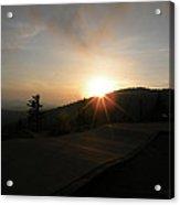 Blue Ridge Sunset - Going Down Acrylic Print