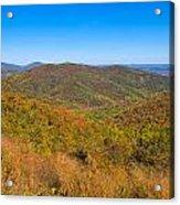 Blue Ridge Vista Acrylic Print