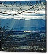 Blue Ridge Winter Solstice 2012 Acrylic Print