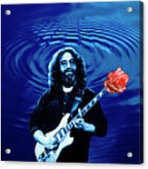 Blue Ripple From A Red Rose Acrylic Print