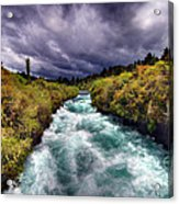 Blue River Acrylic Print by Colin Woods