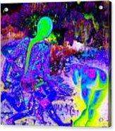 Blue Rock 'n' Roll Acrylic Print