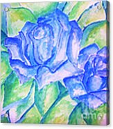 Blue Roses Acrylic Print by Sidney Holmes