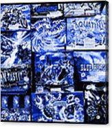Blue Rush Acrylic Print
