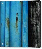 Blue Rusty Farm Gate Acrylic Print