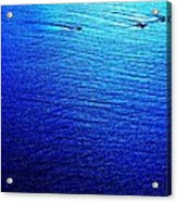 Blue Sand Abstract Acrylic Print