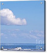 Blue Sea Acrylic Print by Angela Doelling AD DESIGN Photo and PhotoArt