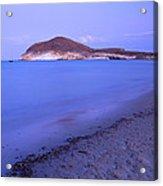 Blue Sea At Sunset Acrylic Print