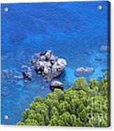 Blue Sea Acrylic Print by Boon Mee