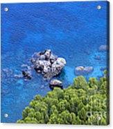 Blue Sea Acrylic Print by Boon Mee