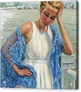 Blue Shawl Acrylic Print