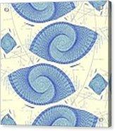 Blue Shells Acrylic Print
