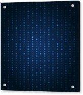 Blue Shining Pattern. Vector Background Acrylic Print