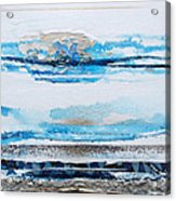 Blue Shore Rhythms And Textures IIi Acrylic Print by Mike   Bell