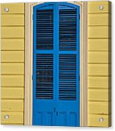 Blue Shutter Door - New Orleans Acrylic Print