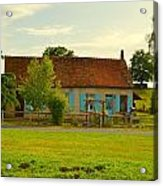Blue Shuttered Cottage Acrylic Print