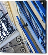 Blue Shutters In New Orleans Acrylic Print