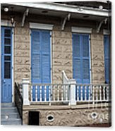 Blue Shutters On Toulouse Acrylic Print