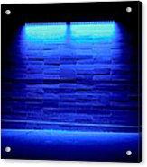 Blue Sidewalk Acrylic Print